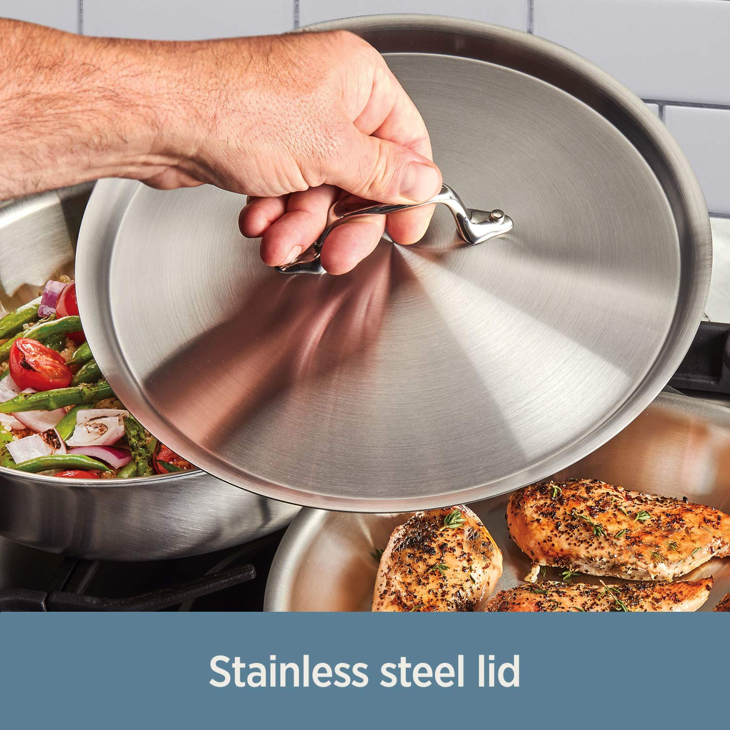 All-Clad Induction Base Stainless Steel Frying Pan