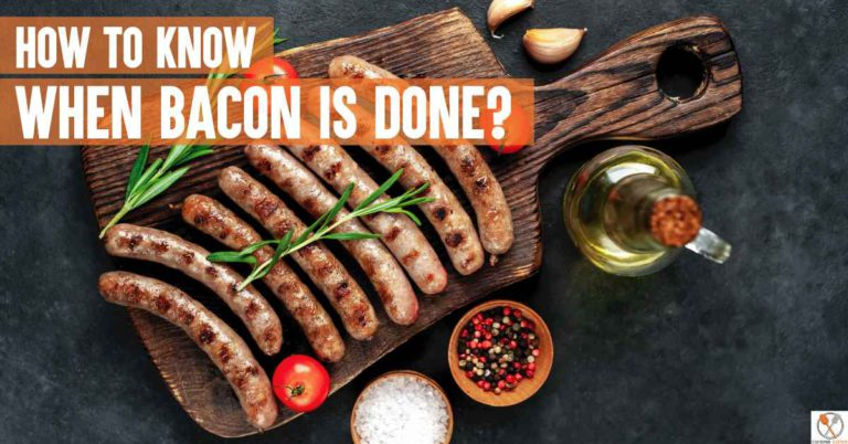 how to know when bacon is done